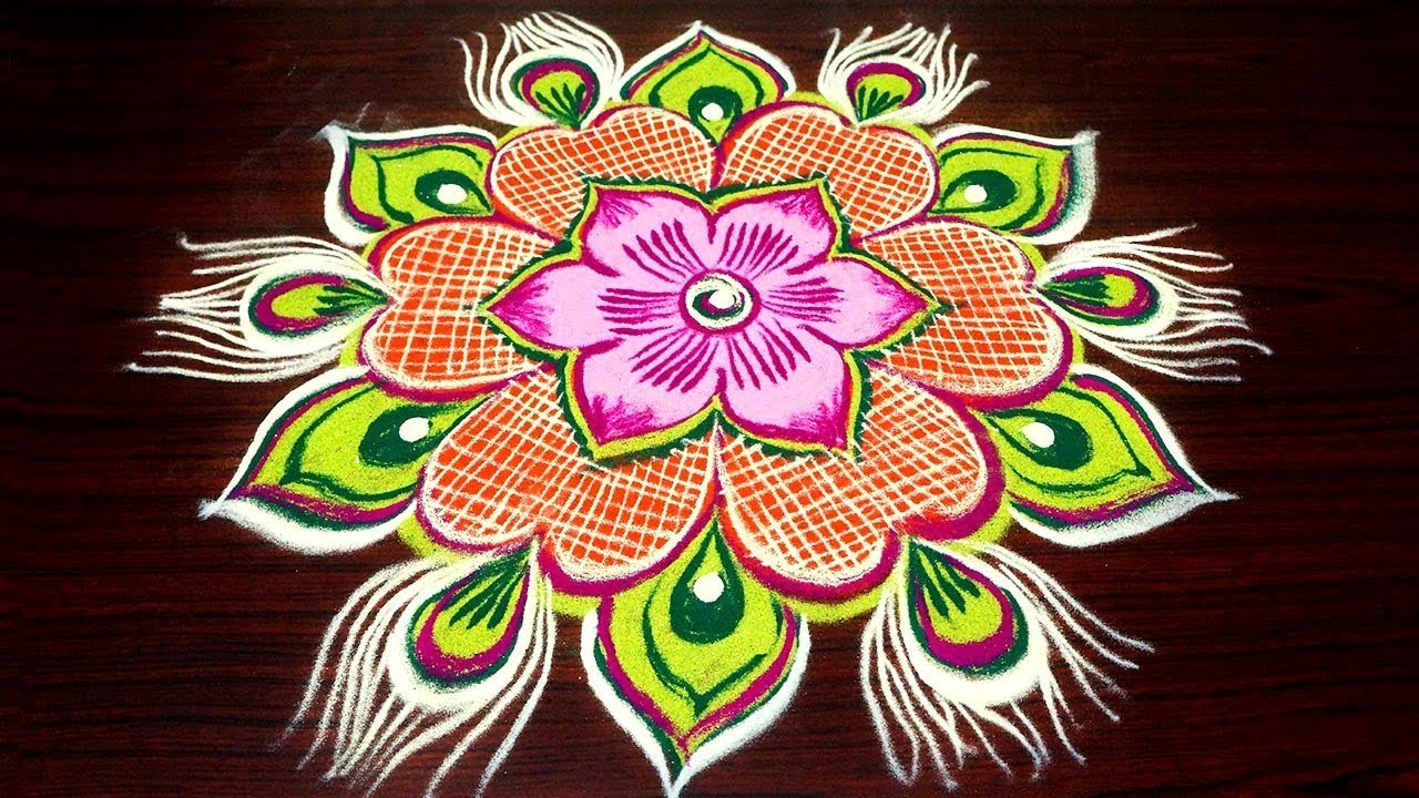 Dots Rangoli Designs For New Year
