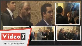 نجوم الفن يقدمون العزاء فى وفاة السيناريست طارق عبد الجليل بمسجد الرحمن الرحيم