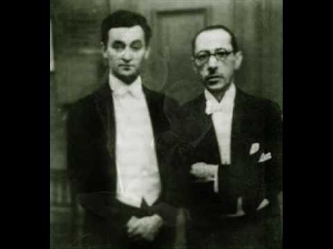 Stravinsky Duo Concertante (Dushkin/Stravinsky)
