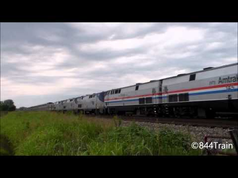 Amtrak Heritage 145 and 822 Lead #4 With 5 Engines and Business Train!