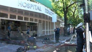 Un incendio afectó la farmacia del hospital Santojanni y no causó víctimas