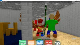 """ONLY ONE IN THE SERVER??? l Baldi""""s Basics Multiplayer ROBLOX"""