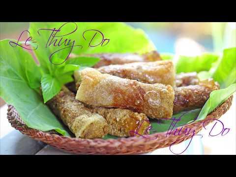 Chả Giò Bánh Tráng Gạo Chiên Giòn Vàng - Golden Crispy Egg Rolls