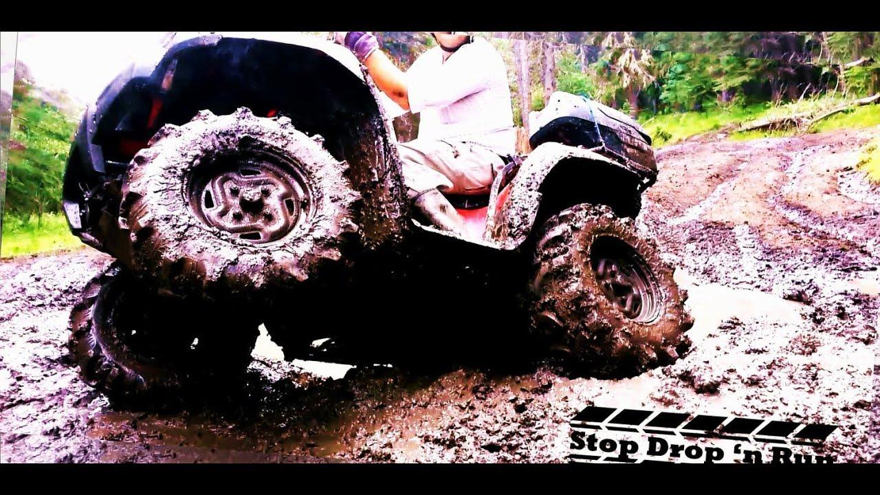 kawasaki brute force 750 4x4 atv mud bogging [ 1280 x 720 Pixel ]