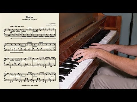 Clocks by Coldplay ( Upright Piano with free score) - Neumann KM 184 mic & Apogee Duet