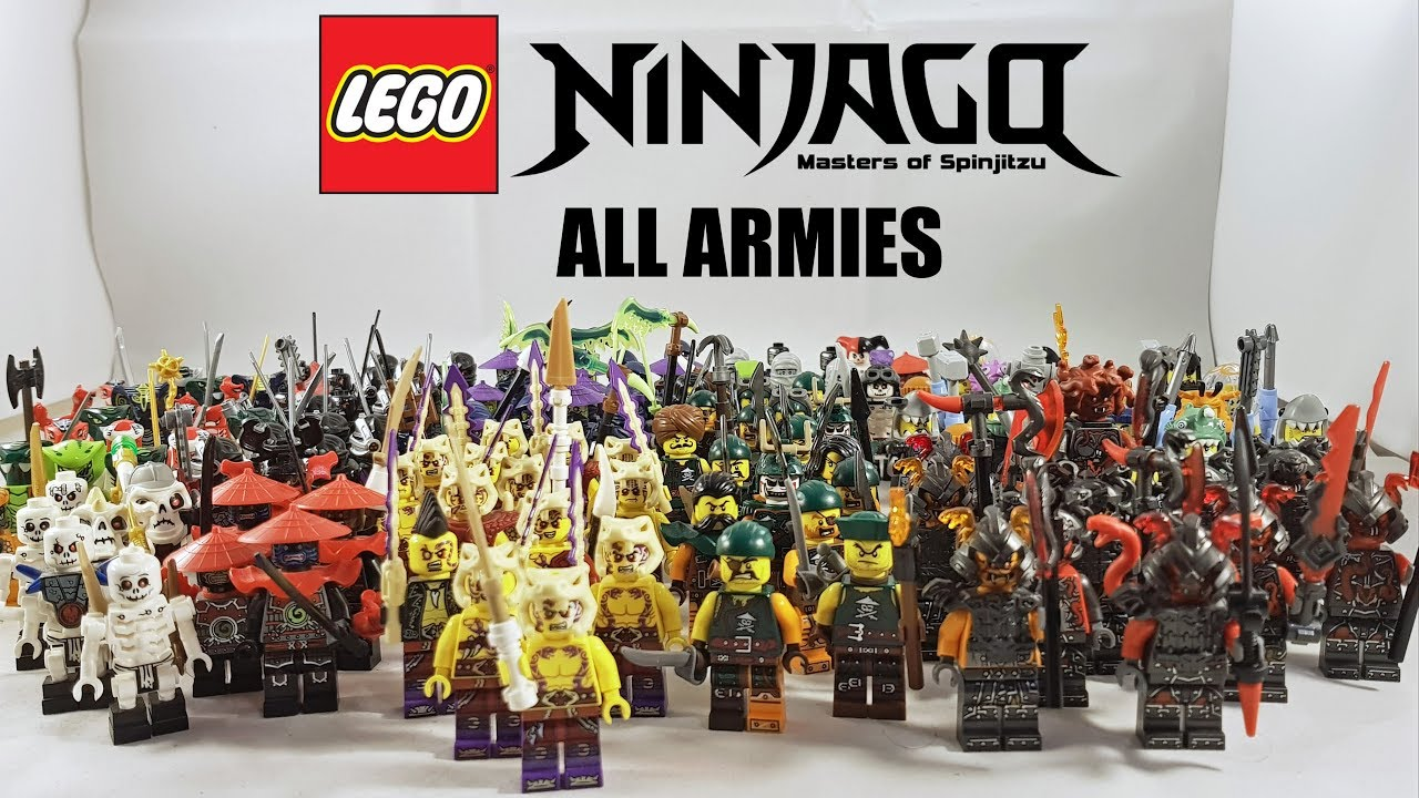 All Lego Ninjago Armies 2011 2017 Youtube