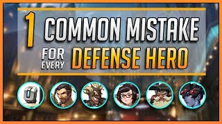 1 COMMON MISTAKE for every DEFENSE HERO (Ft. Kephrii, Kolorblind, Pvptwitch, Fuey500, Yajji)