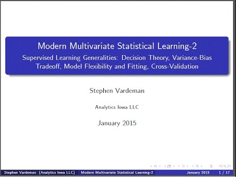 Statistical Learning Introduction-D (Module2)