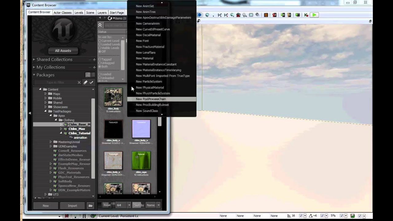 APEX Clothing Tutorial with Maya: Exporting to Unreal 3