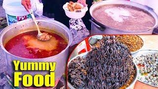 Popular Street Food, Asian Street Food, Fast Food Street in Asia #286