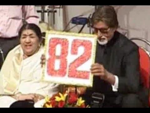 Amitabh Bachchan felicitates Lata Mangeshkar on her birthday