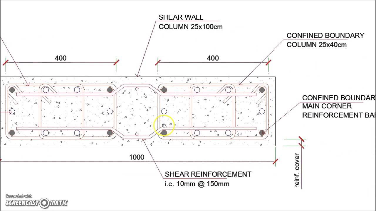 Shear Wall Reinforced Concrete Column Reinforcement Details YouTube