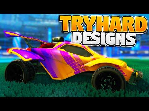 BEST TRYHARD CAR DESIGNS On Rocket League