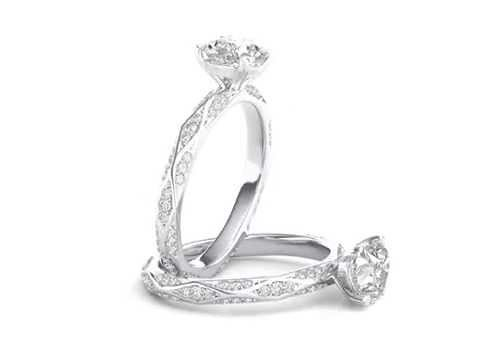 Heart Cut Diamond Modern Infinity Engagement Ring