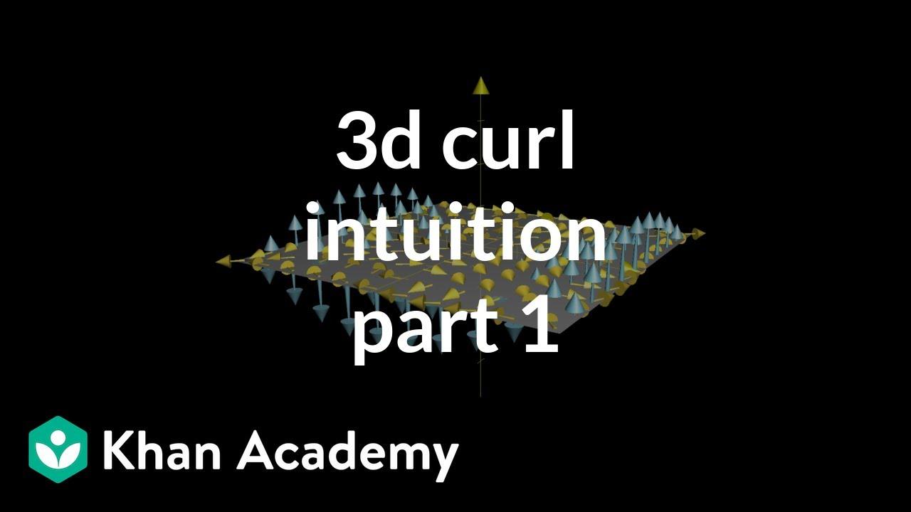 3d curl intuition, part 1 (video)   Curl   Khan Academy