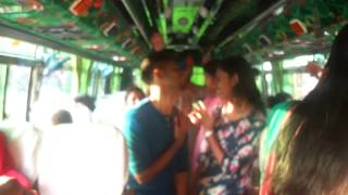 Aqua tour dance in bus funny