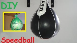DIY:  How to make a Speed bag for boxing / Do it yourself equipment for training at home - Homemade