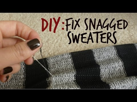How To Fix Snagged Sweaters Youtube