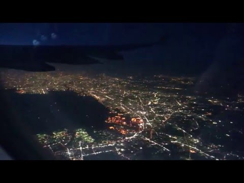 China Eastern Mu522 Tokyo By Night from Airplane  JAPAN