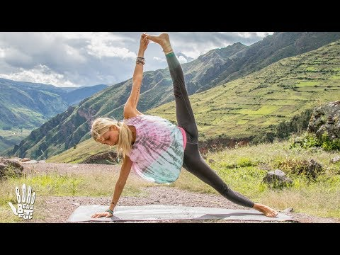 Best Yoga Workout ♥ Butt & Arms Toning | Pisac, Peru