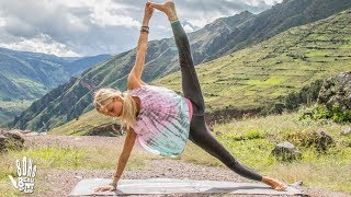 Best Yoga Workout   Butt & Arms Toning | Pisac, Peru