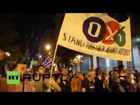 EU flags burn in Greece after 'NO' win