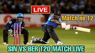 🔴Bermuda vs Singapore Match No.12, ICC T20 Men's World Cup Qualifier Group A BER vs SIN