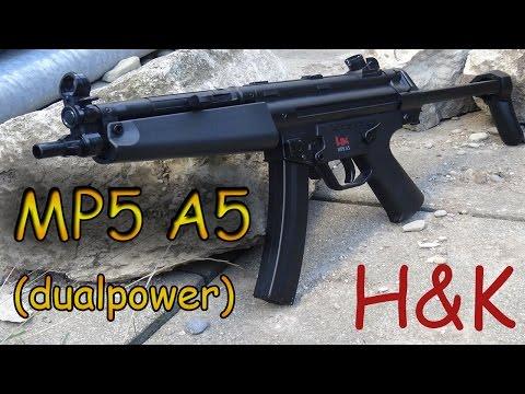 H&K Mp5 A5 (Dualpower) | Airsoft Review + Schusstest [1080p/german]