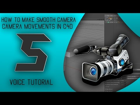 """""""How To Make Smooth Camera Movements In Cinema 4D"""" Voice Tutorial #4"""