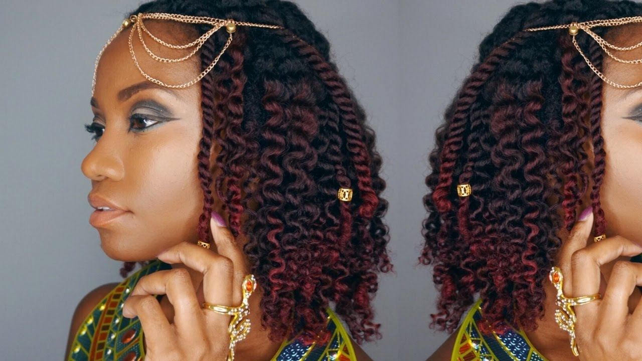 egyptian queen - easy halloween hairstyle || natural hair