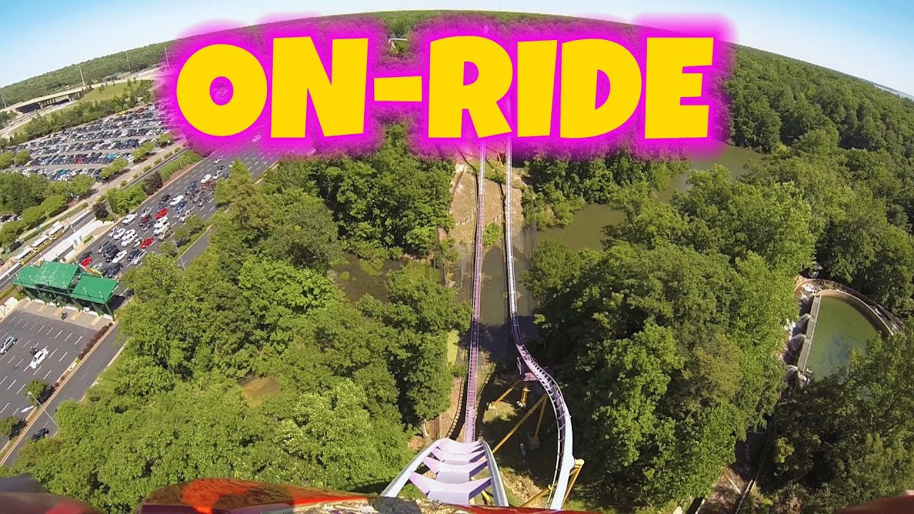 Apollos chariot on ride front seat hd pov busch gardens - Busch gardens williamsburg rides ...