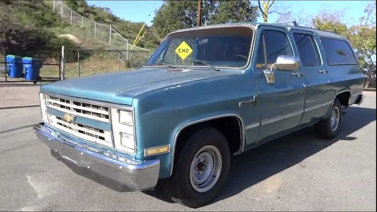 1985 chevrolet suburban youngtimer custom deluxe 20 scottsdale suv 5 7l 350 3 4 ton tow package youtube