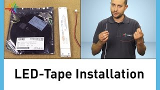 LED-Tape / LED-Stripes Installation - LED tape und LED stripes [watt24-Video Nr.157]