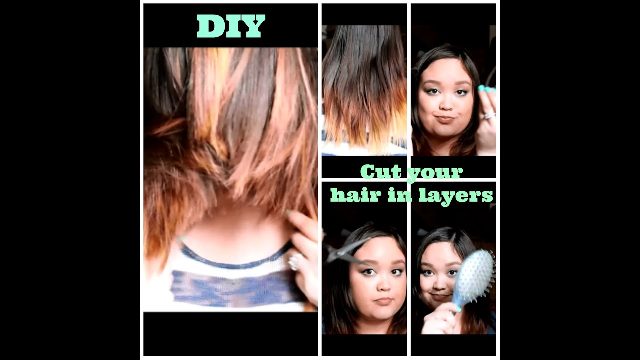 how to cut wispy layers into your hair