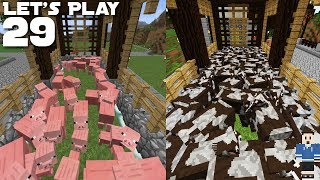 Let's Play EP29: Semi-Automatic Pig & Cow Farms (Minecraft 1.13)