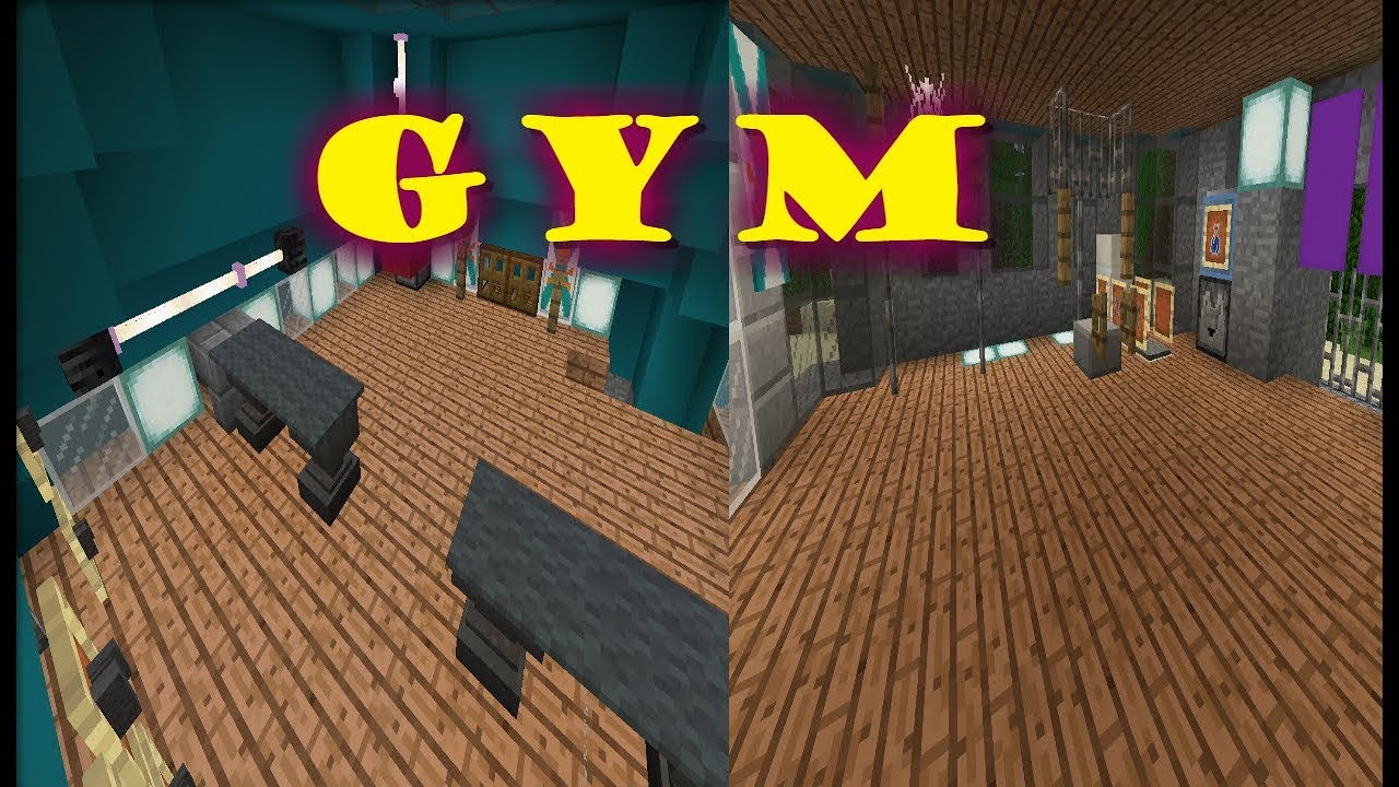 How to make gym equipment minecraft pocket edition ✓ youtube