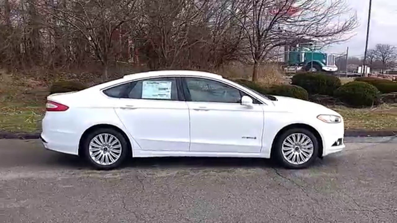 Oxford White 2016 Fusion Hybrid Se 502a Myford Touch Marshall Ford