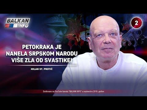 INTERVJU: Milan St. Proti - Petokraka je nanela srpskom narodu vie zla od svastike! (25.9.2019)