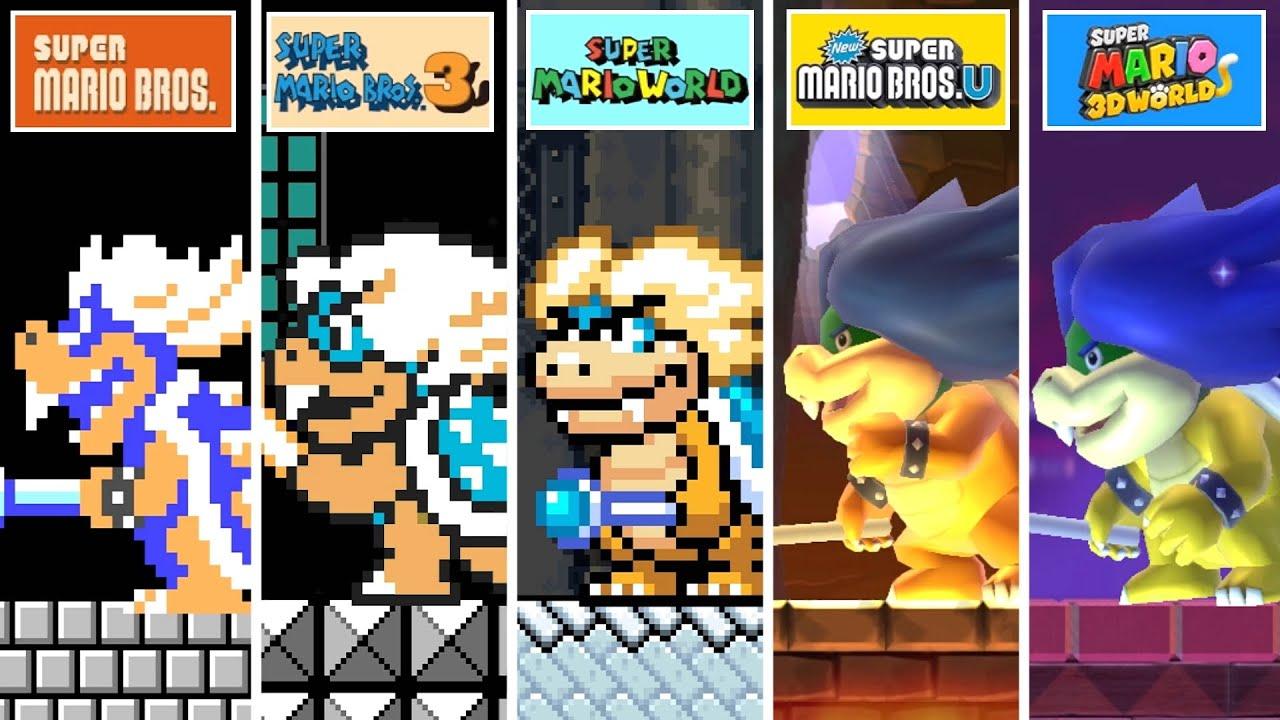 Super Mario Maker 2 All Koopalings Youtube