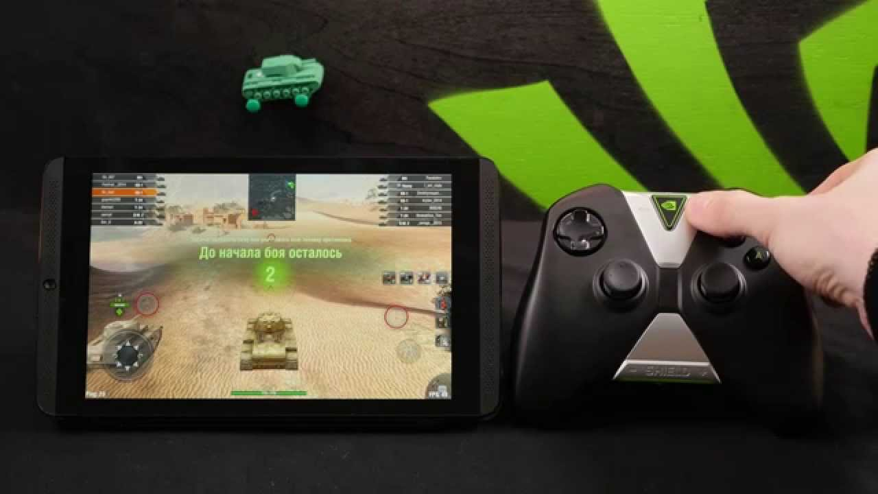 Играем в WOT Blitz на планшете SHIELD. Как настроить контроллер?