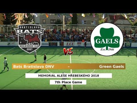 (65) Bats Bratislava DNV – Green Gaels | 2018 Aleš Hřebeský Memorial: 7th Place Game