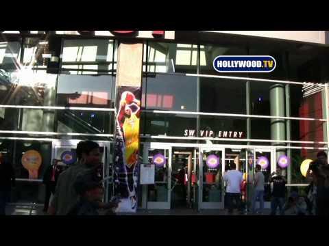 Celebrities At Staples Center