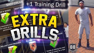 HOW TO GET EXTRA TRAINING DRILLS - EARN BADGES FAST! NBA 2K18 Tips