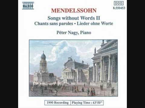 Mendelssohn - Songs Without Words Op. 30-6 No. 12 in F sharp Minor - Peter Nagy