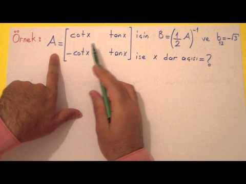 Matris 2 Şenol Hoca Matematik
