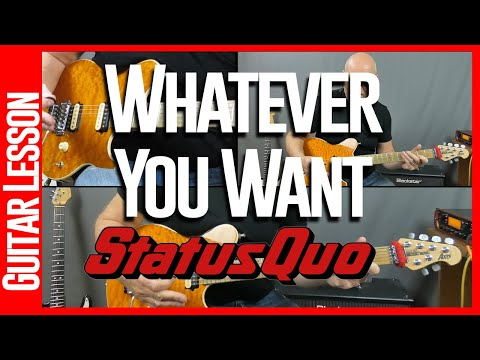 Whatever You Want By Status Quo - Guitar Lesson Tutorial