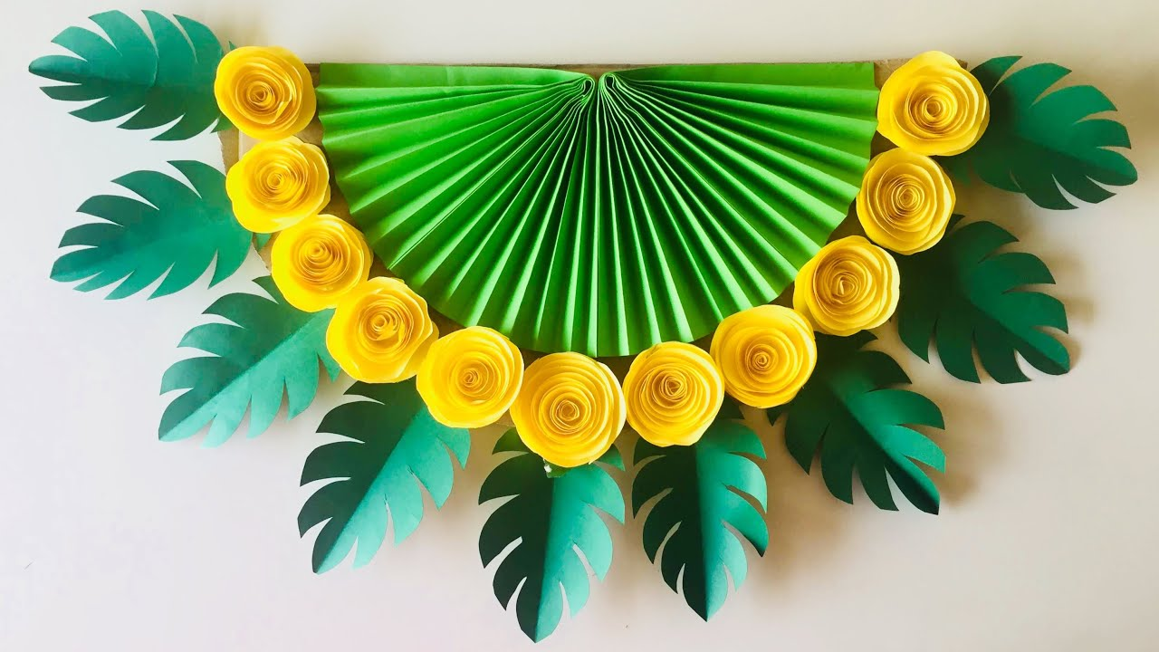 Wall Decoration Ideas With Paper from i.ytimg.com