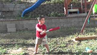 Kids Hitting water balloons 2014