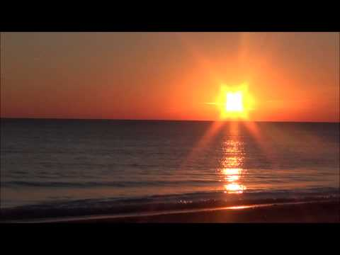 Sunrise Over Lake Michigan Open Water and Sounds of Nature