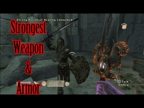 How To Get The Best Weapon And Armor In Oblivion